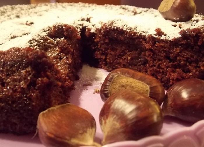 Torta di castagne e cioccolato ricette dolcezze for Dolce di castagne