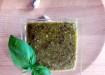 Pesto di piastacchi di Bronte e basilico
